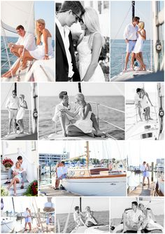 We can't get enough of this adorable sailboat engagement shoot from Luke and Ashley Photography of VA! It's great when couples get adventurous!