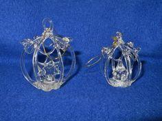LOT OF 6 HANDMADE SPUN GLASS ORNAMENTS Glass Ornaments, Diamond Earrings, Best Deals, Handmade, Ebay, Jewelry, Hand Made, Jewlery, Jewerly