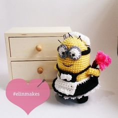 My new maid. What's your favorite minion quote? #amigurumi #craft #crochet #minion #phil #elinmakes #cute #instacrochet #handmade