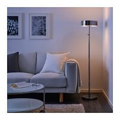 IKEA - STOCKHOLM 2017, Floor lamp, Integrated dimmer, to give general light or mood light.Provides a soft and dimmed light since the lamp shade has frosted glass on both the top and bottom side.Helps lower your electric bill because dimming the lights saves energy.Attention to even the smallest detail – that's why the cord is both thin and transparent.The felt pads underneath protect the surface below against scratches.