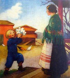 Martta Wendelin | par caijsa's postcards Pretty Drawings, Fairytale Art, Old Paintings, Christian Art, Vintage Postcards, Martini, Illustrations Posters, Vintage Art, Illustrators