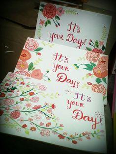 Floral print cards
