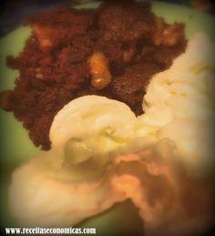 Brownie - Minhas Receitas Económicas: 2 minutos Mashed Potatoes, Grains, Rice, Beef, Html, Ethnic Recipes, Food, Sweet Recipes, Whipped Potatoes