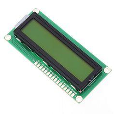 1pc 1602 módulo de pantalla de caracteres LCD luz de fondo amarillo para arduino