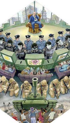 12 illustrations that perfectly depict capitalism - I Am Awake Political Art, Political Cartoons, Political Economy, Caricatures, Satirical Illustrations, Humor Grafico, New World Order, Illuminati, Street Art