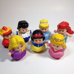 7 Piece Lot of Fisher Price Little PeopleDisney Interactive Castle Prince and Princesses. Prince Eric. From NON-SMOKING, PET-FREE HOME. Fairy Godmother. Sleeping Beauty. | eBay!