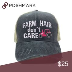 ab7d2e44b6ccd Farm Hair Don t Care Women s Trucker Hat Farm Hair Don t Care women s