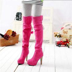Newest Pretty girls-High Heels Boots  High Heels Boots (blue,brown,desert,sand,pink)