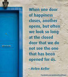 Inspiration from Helen Keller.