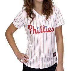 Majestic Philadelphia Phillies Ladies White Replica Baseball Jersey