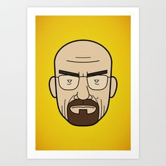 Faces of Breaking Bad: Walter White Art Print by Rob Barrett — Nice Hot Cuppa