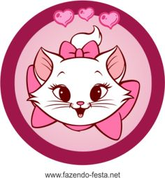 kit festa gatinha marie tags docinhos