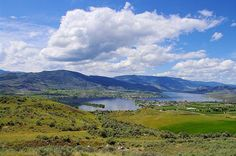 A scenic May view of the town and lake of Osoyoos including Haynes Point Provincial Park. Looking uncharacteristically green.