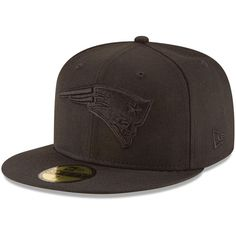 New England Patriots New Era Black on Black 59FIFTY Fitted Hat