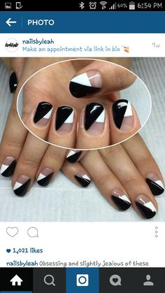 Love these... negative space. Nails by Leah Light