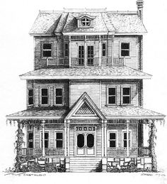 Old House, pen/pencil on paper. by Gregg Hierholzer, gregghierholzer@gmail.com
