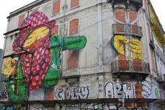 Os Gemeos, Lisbon, street art, Graffiti