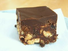 Chocolate Tiffin. A great no-bake recipe.