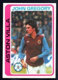 TOPPS FOOTBALLERS-PALE BLUE-1979-JOHN GREGORY-ASTON VILLA No.251