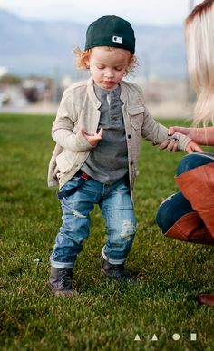 I so want a little man:) But since we are an all girls family besides daddy, I have Taylin wear these jeans and suspenders.