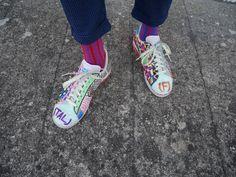 #oybofriends #oybo #oddsocks #oybosocks #socks #chaussettes #sokken #calzini #oddsocks #calzinispaiati #style #streetstyle #blackandwhite #unisex #hoisery #design #genderfluid #uniposca #stripes #red