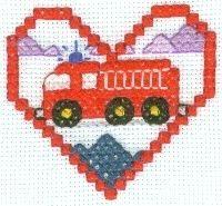 Train Cross Stitch for Baby Blanket