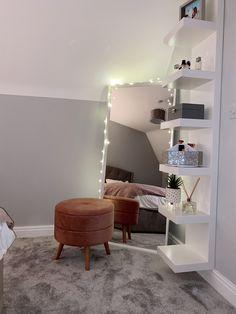 Bedroom Decor Grey Pink, Pink And Grey Room, Room Design Bedroom, Room Ideas Bedroom, Home Room Design, Grey Bed Room Ideas, Cosy Grey Bedroom, Ikea Bedroom White, Blush Pink And Grey Bedroom