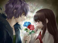 Ib and Garry from Ib(game) Anime Love, Sad Anime, Manga Anime, Anime Art, Anime Sasuke, Sakura E Sasuke, Sf Wallpaper, Cute Anime Wallpaper, Couple Wallpaper