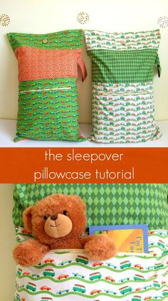 """We visit family and friends often. Sometimes we end up staying late and our kids start to get tired. If we pack this """"sleepover pillowcase"""" before we leave, the kids can have their favorite toy,…"""