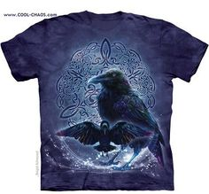 Purple Celtic Raven T-Shirt / Tie Dye TShirt