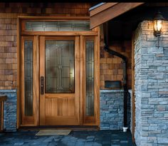 Scarborough 6316 with UltraBlock technology with 6347 sidelights and 6746 transom shown in sapele mahogany - September 14 2019 at Sapele, Doors, Exterior Doors, Hanging Barn Doors, French Doors Interior, Front Door Design, Timber House, Front Door Paint Colors