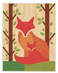 What a fun wood print to decorate a nursery!