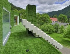 Residence in Frohnleiten, Austria. Designed by Reinhold Weichlbauer and Albert Josef Ortis of Weichlbauer Ortis Architects