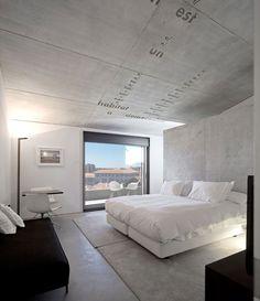 #concrete #bedroom