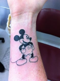 One of my favourite disney tattoos. Mr Mickey Mouse himself