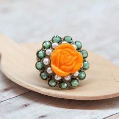 #Ruche                    #ring                     #Budding #Zinnia #Ring    Budding Zinnia Ring                                 http://www.seapai.com/product.aspx?PID=491522