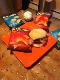 recipe: razzle dazzle grand slam burger. (with bacon, cheese and popchips for the perfect crunch!)