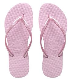 Pink Havaianas flip-flops