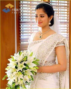 Indian Christian Weddings Designer Bridal Saree Ideas3