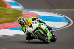 James East from MacKrory Racing takes on the corner at Knockhill Racing Circuit.