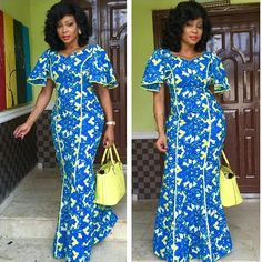 FLOOR LENGTH ANKARA LOOKS PERFECT FOR THANKGIVING SUNDAY | Fashion ...