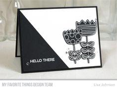 Doodled Blooms Stamp Set and Die-namics, Blueprints 13 Die-namics, More Essential Sentiments Stamp Set - Lisa Johnson  #mftstamps