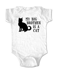 My Big Brother is a Cat - cute funny baby one piece bodysuit (6 Months Bodysuit, White) cuteandfunnykids http://www.amazon.com/dp/B00PQ9R8CS/ref=cm_sw_r_pi_dp_DzZgvb1M7AS7J