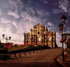 The Ruins of St. Paul's, Macau, by pattpoom