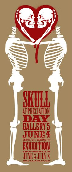 Not only do I love this image, I love the idea of skull appreciation day and Skull-A-Day