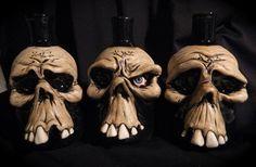 Skull bottles <3