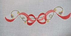 Thread painted bow by pipersquilts, via Flickr