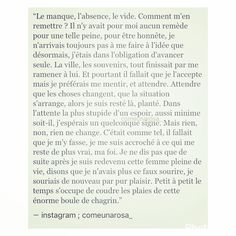 Tu Me Manques, French Quotes, Life Words, Phrases, Vide, Writings, Sentences, Quote Of The Day, Texts
