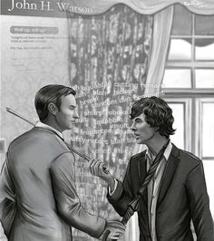 Sherlock and Mycroft at each other's throats. Metaphorically speaking.