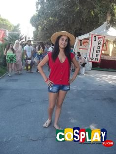 Monkey D Luffy Cosplay from One Piece in Rimini Comics 2014 IT